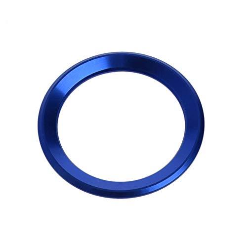 YJSZJY Etiqueta engomada del círculo del Volante, Etiqueta engomada del círculo de la decoración del Volante del Coche para X1 E60 E36 E39 E46 E30,Azul