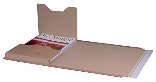 KK Verpackungen® Höhenvariable Versandverpackung für Büchersendungen | 25 Stück, DIN A3, 455x325x80mm | Buchverpackung, Wickelverpackung mit Selbstklebeverschluss & Aufreißfaden