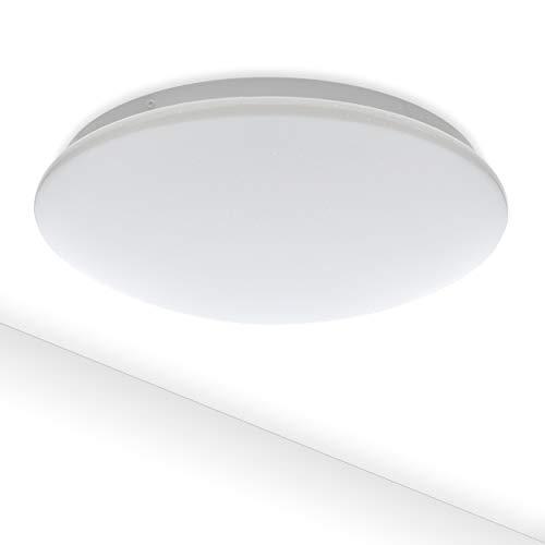 LED Deckenleuchte Como 12W IP44 Sternenhimmel   980Lm Ø 27cm 230V Warmweiß 3000K   Deckenlampe Bad Flur Kinderzimmer