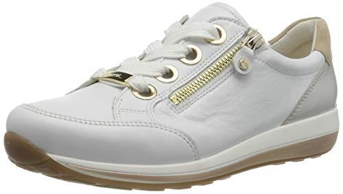 ara Damen OSAKA Sneaker, Weiß Weißgold Camel, 40 EU