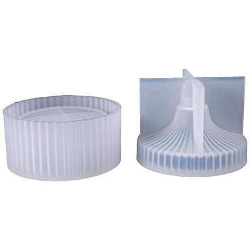 Ritapreaty siliconen mal DIY kristal epoxy mal ronde opbergdoos met deksel sieraden opbergdoos 8,2 x 10 cm