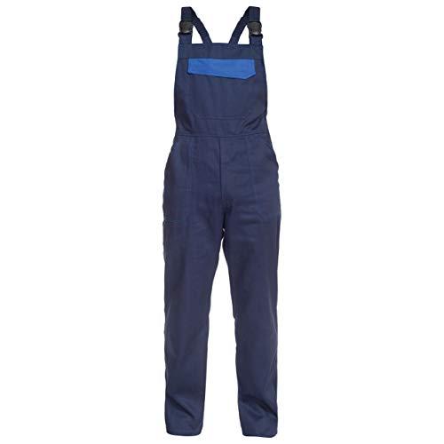 BWOLF ARES 100% Baumwolle Latzhose Herren Arbeitshose Schutz-Latzhose Arbeits-Latzhose (Blau, 2XL)