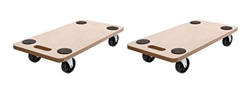 (2Stück) SWV Rollbrett Transportrolle Möbelroller Roller Transporter 200kg 58 x 30 x 12 cm