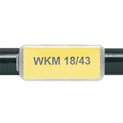 LEMAX® Kabelmarkierer WKM 18/43, transparent, Polypropylen, 43x18mm, 50/VE