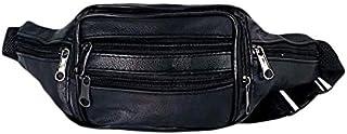 حقيبة وسط جلد طبيعى للرجال من نيو تكس - اسود