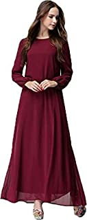 Red Chiffon Casual Dress For Women