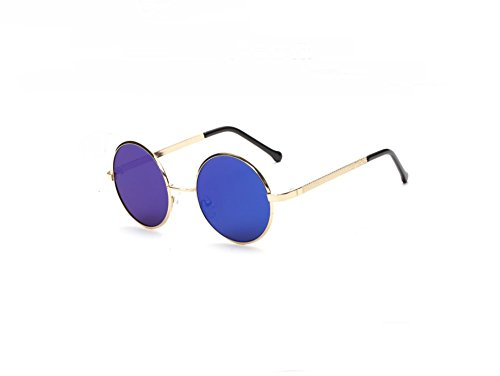 OUTERDO Occhiali da Sole,Retro Occhiali da Sole Unisex Occhiali per Gli Uomini e Donne Telaio Metallo UV400