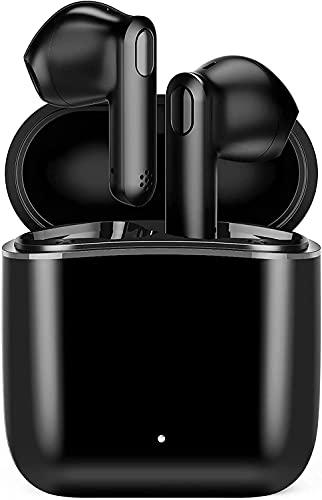 Kabellose Bluetooth Kopfhörer, Haowolf HiFi Stereo Bluetooth Ohrhörer In Ear, IPX6 Wasserdicht und Touch Steuerung Inkl.Ladebox unterstützt 5-stündige Spielzeit für Sport/Arbeit