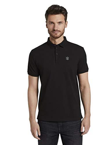 TOM TAILOR Herren Detail Polo T-Shirt, 29999-Black, M