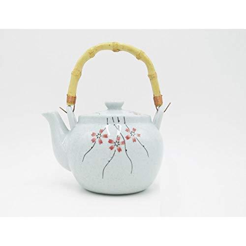 Tetera Ceramica Juego de té de cerámica, tetera japonesa, sauce, flor de cerezo, color