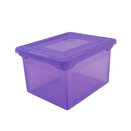 Office Depot Brand Letter and Legal File Tote, 18'L x 14 1/4'W x 10 7/8'H, Purple