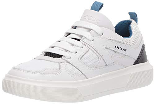 Geox J NETTUNO Boy D, Zapatillas Niños, Blanco (White/Petroleo C1zj4), 33 EU