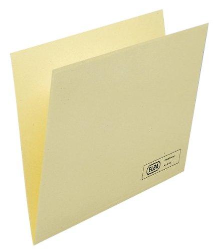 Elba Einstellmappe für Dokumente A4 aus Kraftkarton, chamois, 50 Stück