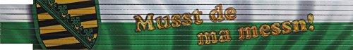 2m-Zollstock / einseitig farbig bedruckt / Spruch in Sächsisch