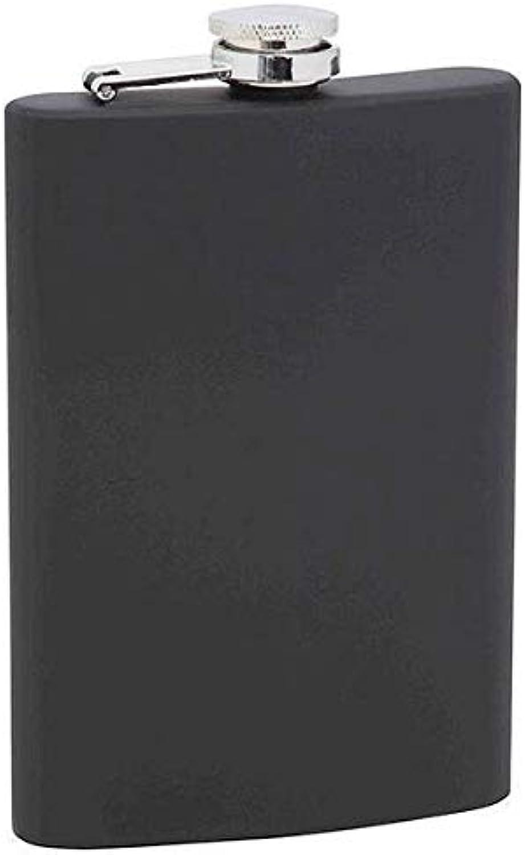Matte Black 8 oz. Stainless Steel Flask