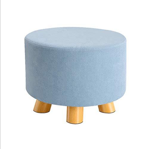 ZHONGTAI Otomano Otoman Pooncillo Heces Franela Silla pequeña Asiento Sillón Sofá Moderno Moderno Tapizado para Muebles en Sala de Estar Escabel (Color : Light Blue)