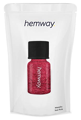 Hemway Pigment Poeder Tube Premium Gel Nagel Lip Gloss Dust Art Make-up Oogschaduw Gezicht Lichaam Oog Cosmetische Veilig UV - 3.9g / 0.15oz Metallic Hot Pink