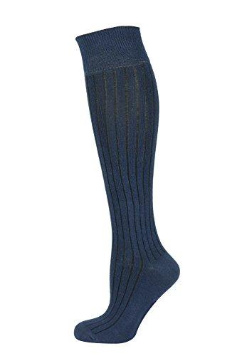 Mysocks calcetines largos lisos Costilla Armada