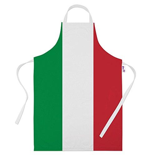 Tabliers imprimés pour hommes drôle drapeau italien de cuisson, cadeaux de cuisine