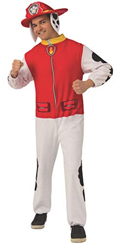 Rubie s Adult Paw Patrol Marshall Jumpsuit Adult Sized Costumes, As Shown, Standard US