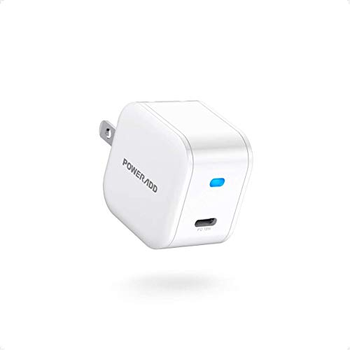 POWERADD for iphone 12 Charger, PD18W Fast Wall Charger Power Adapter with Foldable Plug, USB C retractable Compatible with iPhone 12/11 Pro/SE/mini, iPad Pro,AirPods,Pixel, Galaxy and More