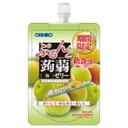 オリヒロ ぷるんと蒟蒻ゼリー 梅 130gパウチ×48本入