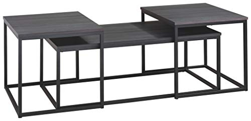 Signature Design by Ashley Yarlow 3-Piece Occasional Table Set, Black