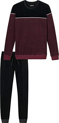 Schiesser Herren-Schlafanzug Frottee Beere/schwarz Größe 58