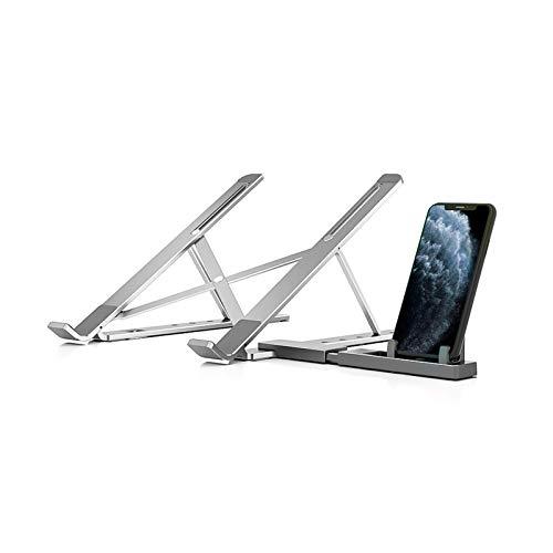 TBYGG Soporte Laptop,Soporte Ordenador,Laptop Stand,Soporte de Portátil,Soporte para Portatil para DELL,HP,Samsung,Lenovo de11-15.6 Pulgadas,Plata