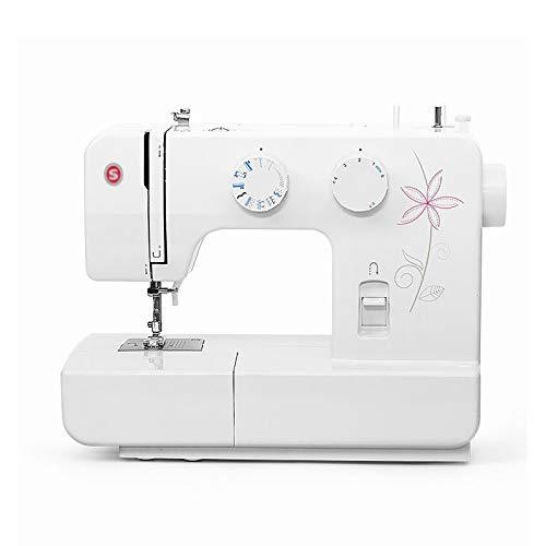 LiChaoWen Máquina de Coser Principiante Pequeño Escritorio para el hogar Multifunción eléctrica Coma Costura Gruesa Máquina de Coser Ligera (Color : White, Size : 35x15.5x27.5CM)