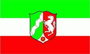 Nordrhein Westfalen Fahne Flagge Grösse 1,50x2,50m XXL