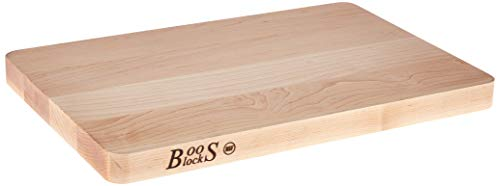 John Boos Block 214 Chop-N-Slice Maple Wood Edge Grain Reversible Cutting Board, 20 Inches x 15 Inches x 1.25 Inches