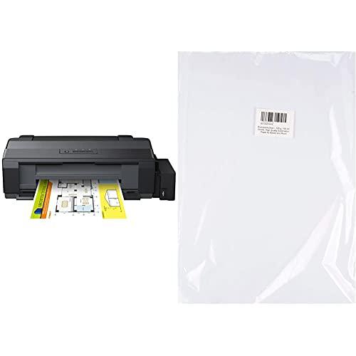 Epson Ecotank Et-14000, Impresora Color (Inyección De Tinta, con Tecnología Micro Piezo), Color Negro + Bramacartuchos - Papel Sublimación De 125Gr, A3 100 Hojas