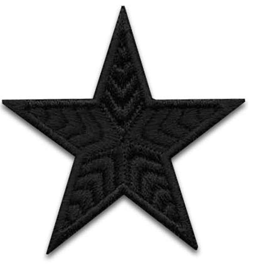 Iron On Patches - Black Star Patch 10 pcs Iron On Patch Embroidered Applique Star S-15