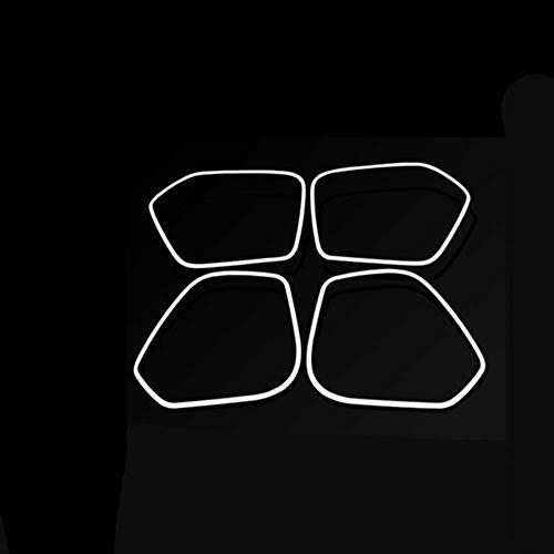 XQRYUB Stahlaufkleber 4 Stück Autolautsprecherdekorationsabdeckung Lautsprecherdekorationsrahmen, Fit fürAudi Q3 2013-2017