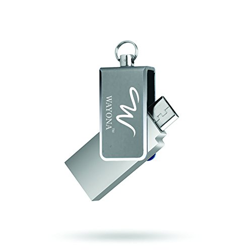 Wayona Dual USB 16 GB 2.0 OTG Pen Drive with Micro USB Connector for Android Phone (Silver)