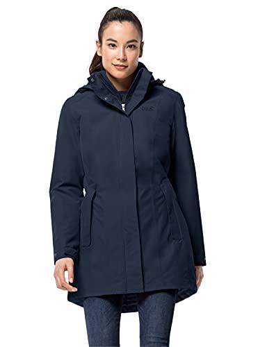 Jack Wolfskin Damen Madison Avenue Coat Mantel, blau (midnight blue), XL
