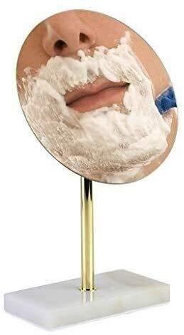 Espejo de tocador de baño Afeitado Redondo Maquillaje de pie Libre Maquillaje