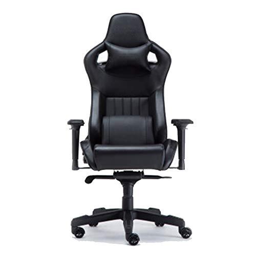 GLMAS Stühle, Bürostühle, Sessel, Gaming-Stuhl, höhenverstellbar, hohe Rückenlehne, Bürostuhl, Chefsessel, dunkelschwarz