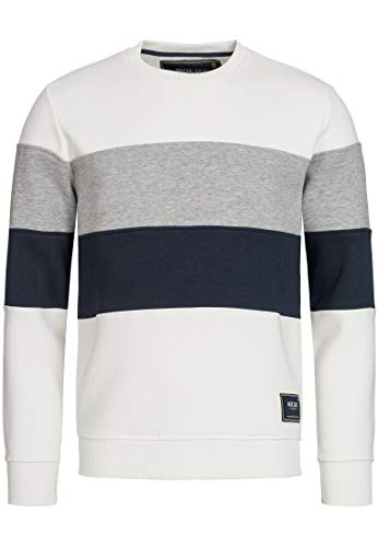 Indicode Caballeros Gavel Sudadera con Puños Acanalados | Caliente De Moderno Invierno Sweater Jersey Hombre para Hombres En Offwhite M