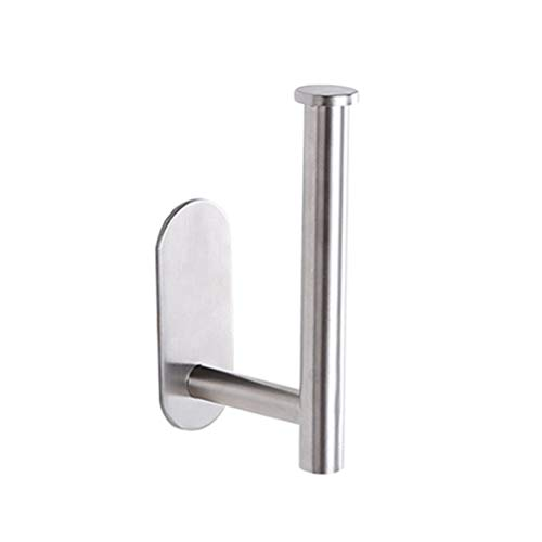 Afazfa Toilet Roll Holder Self Adhesive - Toilet Paper Holder for Bathroom Stick on Wall Silver