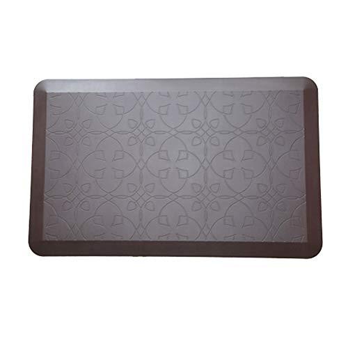 BAIJ Premium Antideslizante Estera antifatiga, tapetes Confortables, tapetes, 100% PU, para el hogar, la Oficina y Las cocinas,Brown