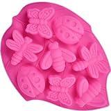 100 St. Silikon Backform Muffinform Muffin Kuchen Gelee Dessert Insekt Motive Schmetterlinge,...