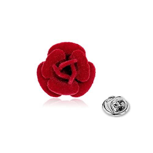 TOSSPER Flor De De Rose Rose Pin De La Solapa Hecha a Mano Y Dejar Ojal Broche De Ropa Accesorios para Hombres Mujeres Traje