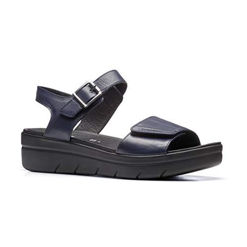 Stonefly Women's Aqua III 2 Nappa Ankle Strap Sandals, (Limo Blue 100), 7 UK