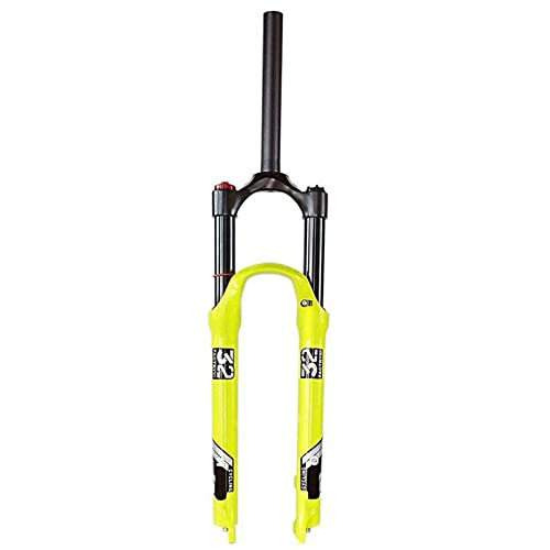 XQHD Horquilla Delantera MTB 120 Mm,Tubo Recto De 28,6 Mm,Horquillas De Suspensión para Bicicleta De Montaña Control De Hombro Aleación De Magnesio Bloqueo De Corona Qr De 9 Mm,26inch