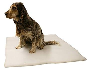 Guilty Gadgets Coussin chauffant pour animal domestique avec revêtement antidérapant en fausse fourrure et housse lavable