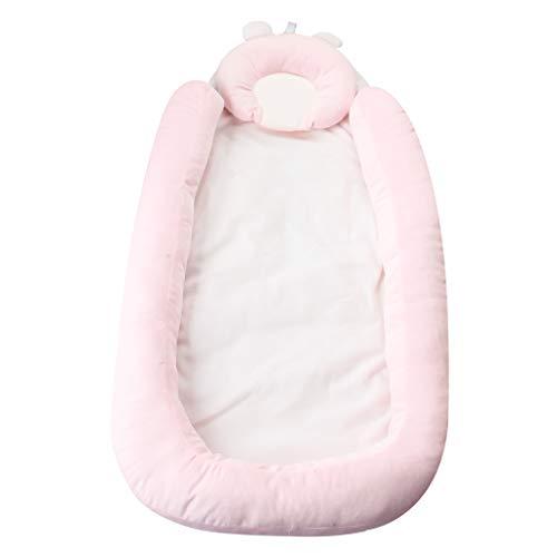 KAKIBLIN Moisés para cama, cuna portátil para recién nacido, apto para bebés de 0 a 9 meses, Rosado