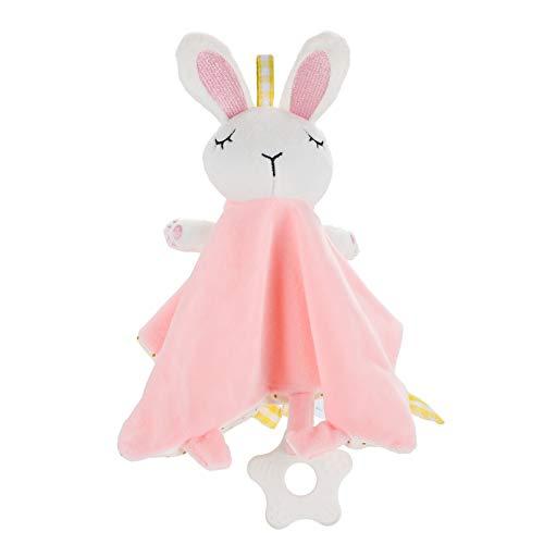 TOYANDONA 1 Pza Manta de Seguridad Unisex para Bebé Animal Manta de Comodidad para Bebé Recién Nacido Y Niño Los Mejores Regalos Conejo