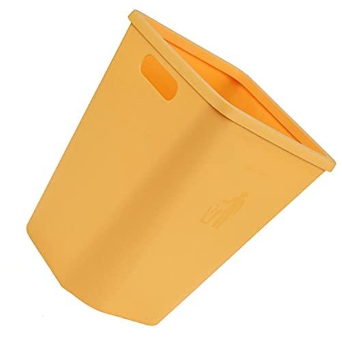 BESPORTBLE Amarelo Retangular Lixeira Lixeira de Lixo Lata De Lixo para O Banheiro Quarto Home Office Dormitório Pode Recipiente de Resíduos
